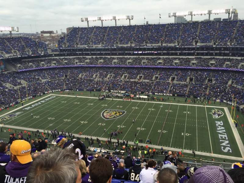 Seating view for M&T Bank Stadium Section 524 Row 18 Seat 3