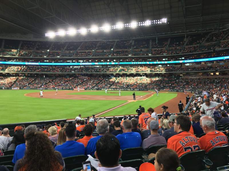 Seating view for Minute Maid Park Section 106 Row 20 Seat 4