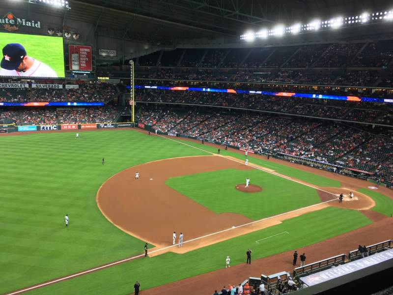 Seating view for Minute Maid Park Section 309 Row 1 Seat 24