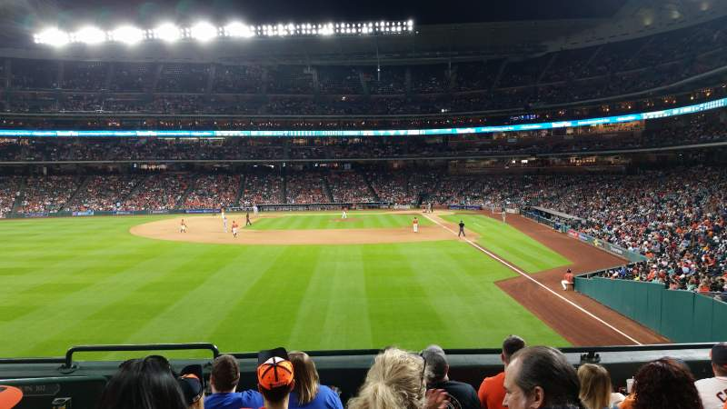 Minute Maid Park, section: 103, row: 6, seat: 1