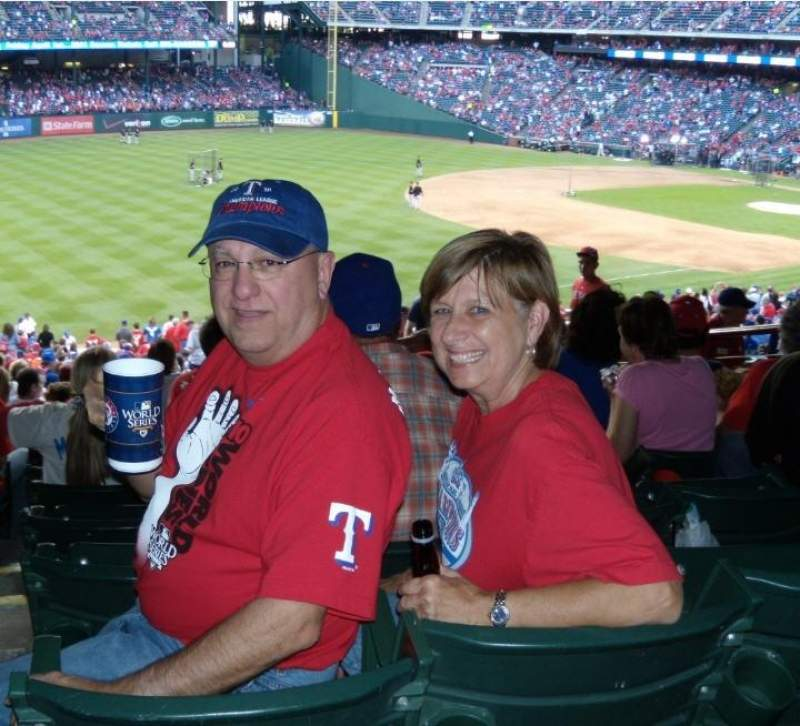 Seating view for Globe Life Park in Arlington Section 214 Row 10 Seat 1