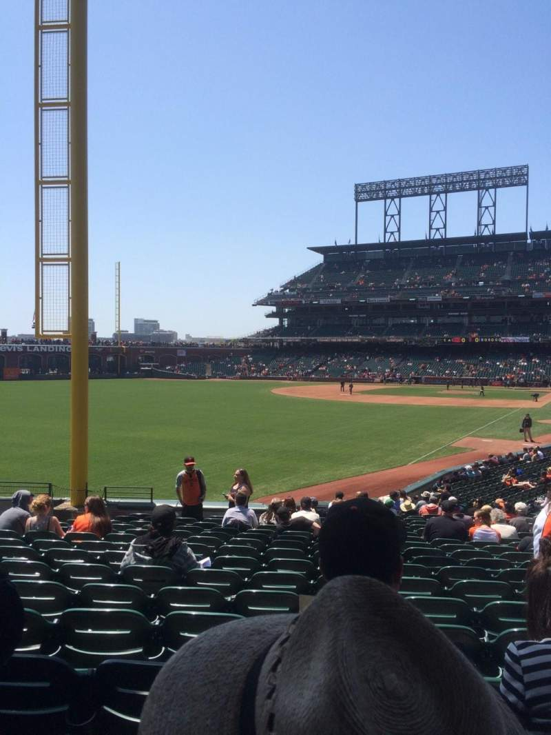 Seating view for AT&T Park Section 135 Row 26 Seat 7