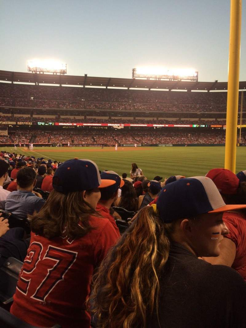 Seating view for Angel Stadium Section 133 Row J Seat 15