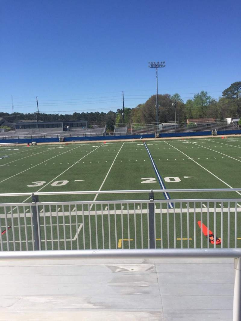 Seating view for Luther Nick Jeralds Stadium Section 103 Row 3 Seat 10