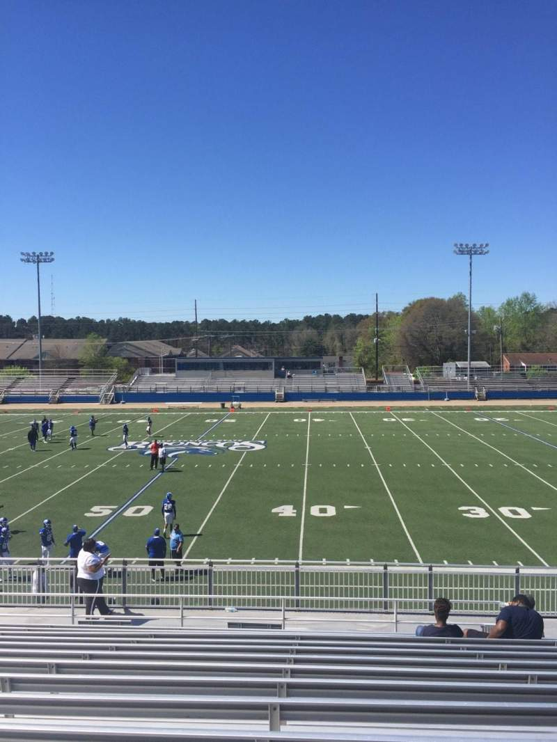 Seating view for Luther Nick Jeralds Stadium Section 104 Row T Seat 11