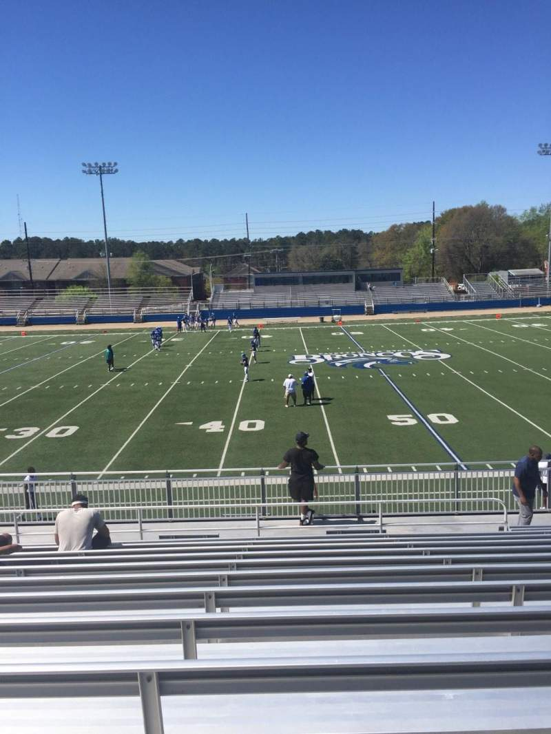 Seating view for Luther Nick Jeralds Stadium Section 105 Row R Seat 14