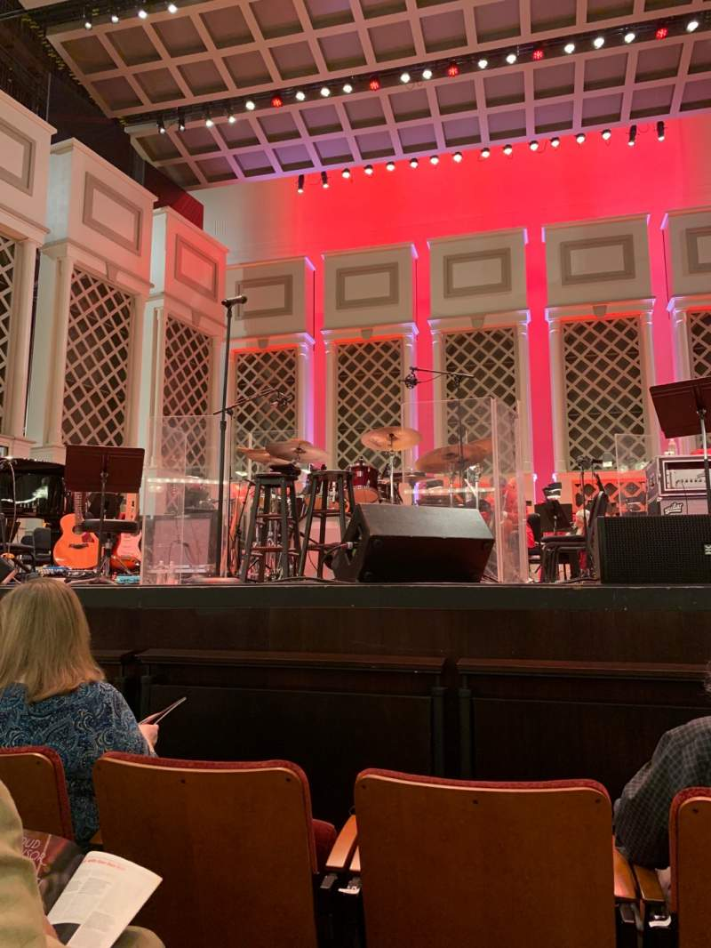 Seating view for Cincinnati Music Hall Section ORCH Row CC Seat 201