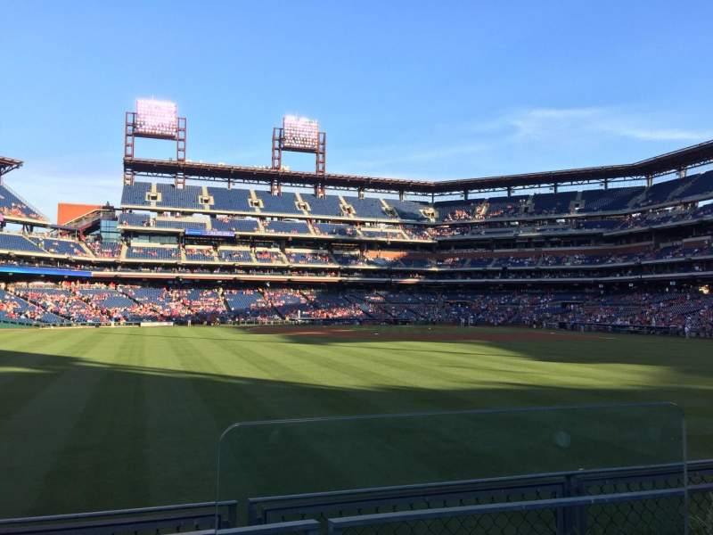 Seating view for Citizens Bank Park Section 146 Row 2 Seat 1