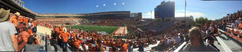 Seating view for Texas Memorial Stadium Section 2 Row 28 Seat 1