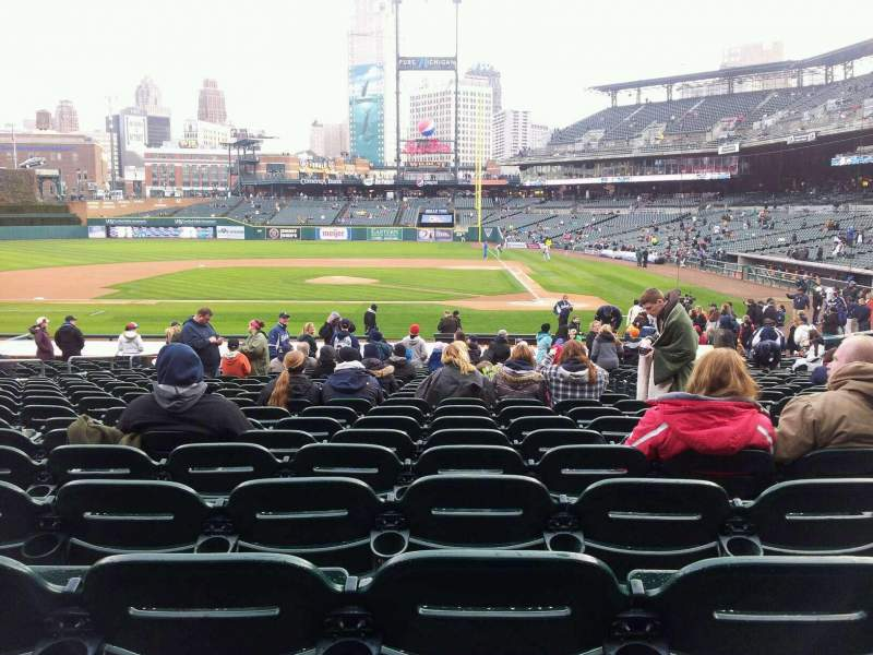 Seating view for Comerica Park Section 132 Row 28 Seat 4