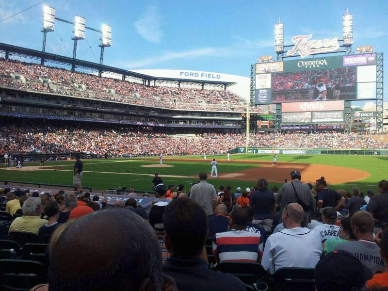 Seating view for Comerica Park Section 119 Row 20 Seat 9