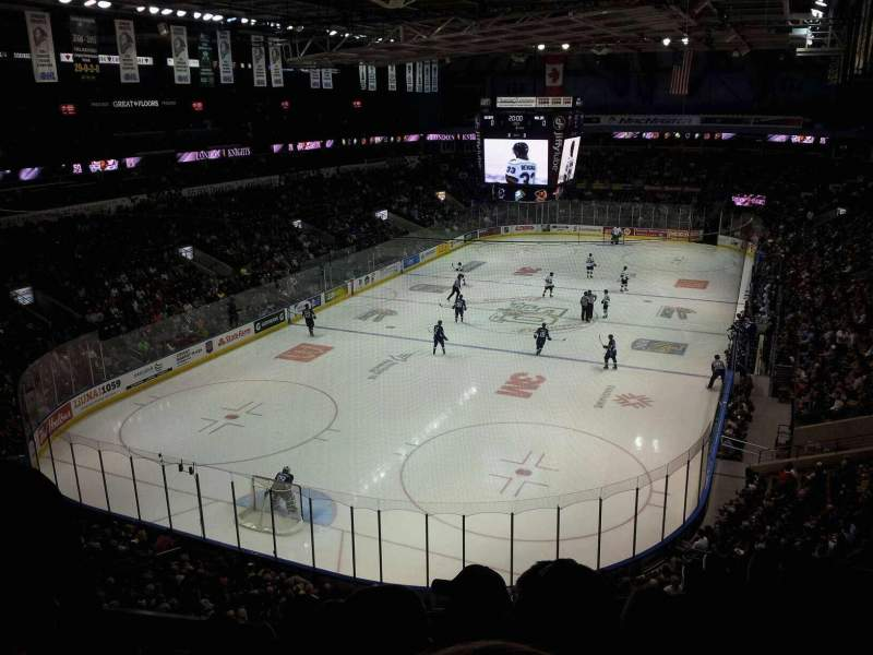 Seating view for Budweiser Gardens Section 308 Row F Seat 17