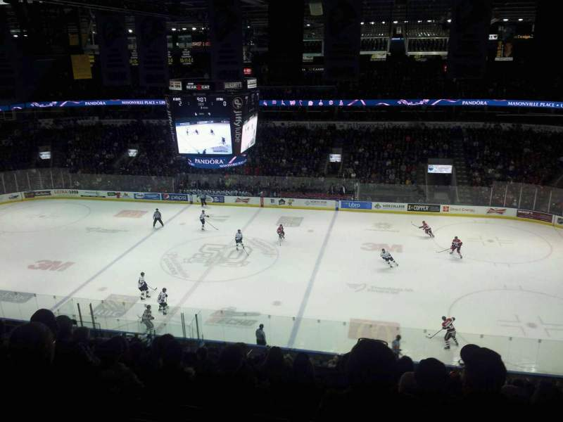 Seating view for Budweiser Gardens Section 314 Row j Seat 12