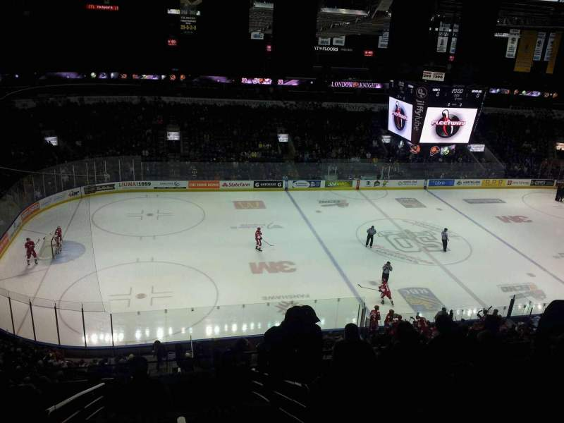 Seating view for Budweiser Gardens Section 305 Row j Seat 26
