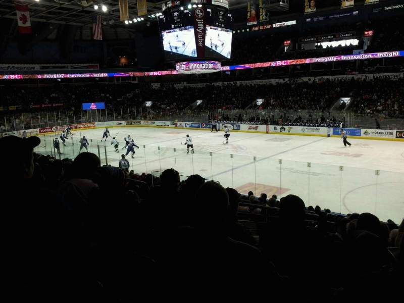 Seating view for Budweiser Gardens Section 112 Row r Seat 23