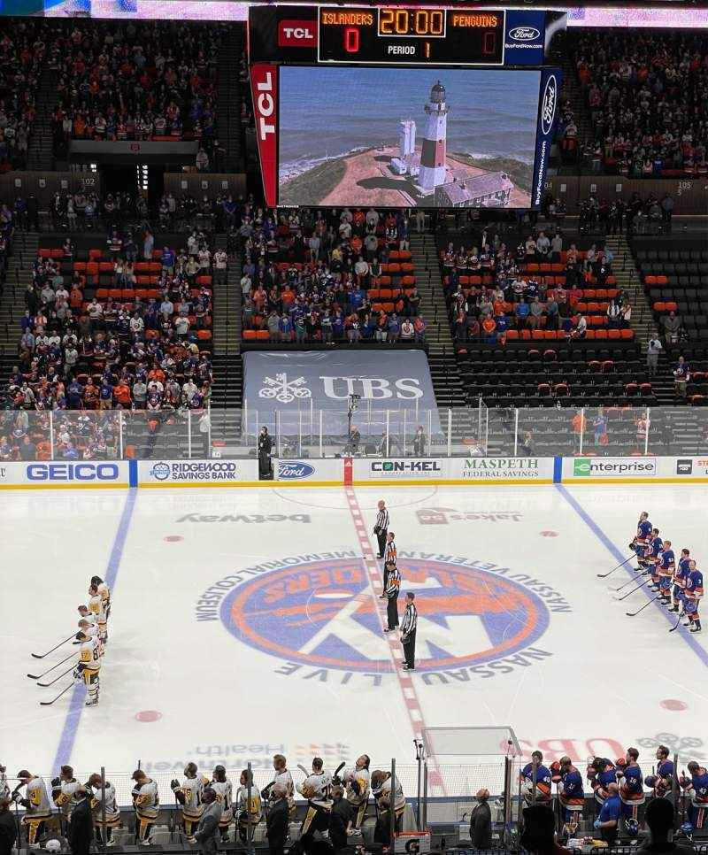 Seating view for Nassau Veterans Memorial Coliseum Section 224 Row 6 Seat 16