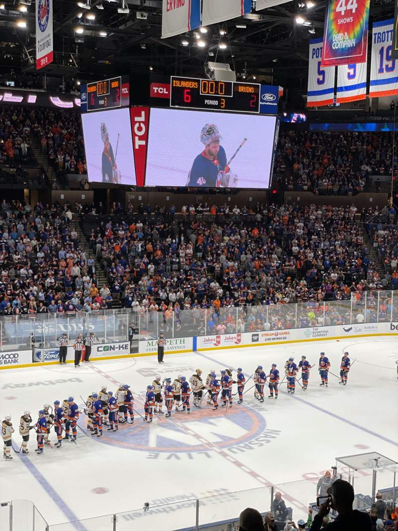 Seating view for Nassau Veterans Memorial Coliseum Section 225 Row 2 Seat 3