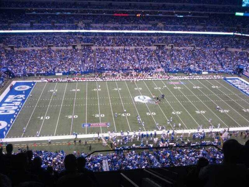 Seating view for Lucas Oil Stadium Section 642 Row 9 Seat 1