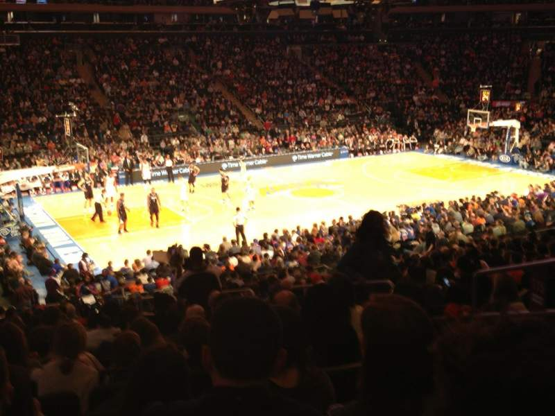 Seating view for Madison Square Garden Section 115 Row 21 Seat 17
