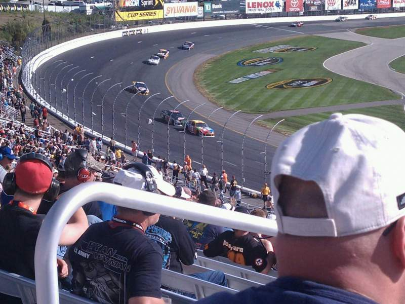 Seating view for New Hampshire Motor Speedway Section Loconia Section S Row 47 Seat 16