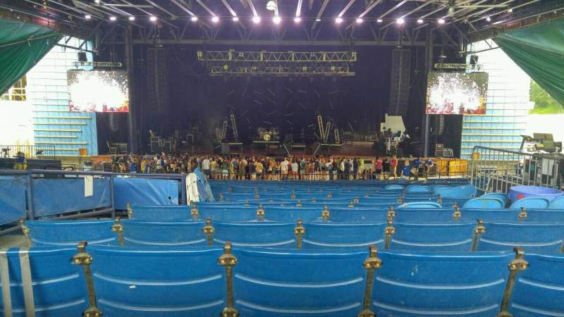 Seating view for Merriweather Post Pavilion Section Center Row ff Seat 122