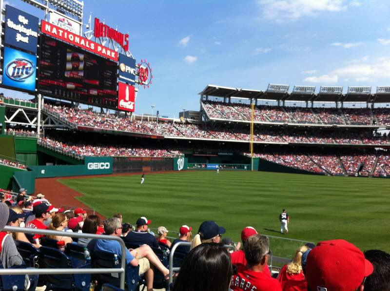Seating view for Nationals Park Section 105 Row K Seat 18