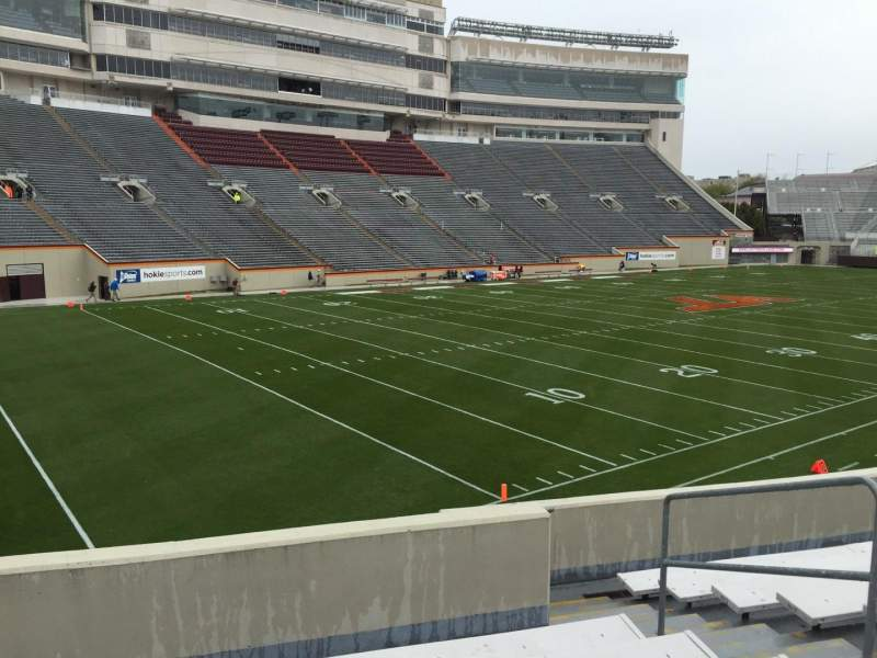 Seating view for Lane Stadium Section 19 Row X Seat 9