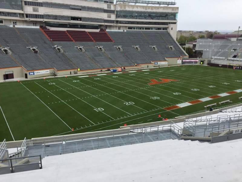 Seating view for Lane Stadium Section 19 Row AAA Seat 18
