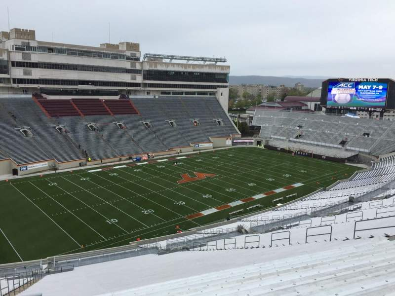 Seating view for Lane Stadium Section 39 Row 4N Seat 12