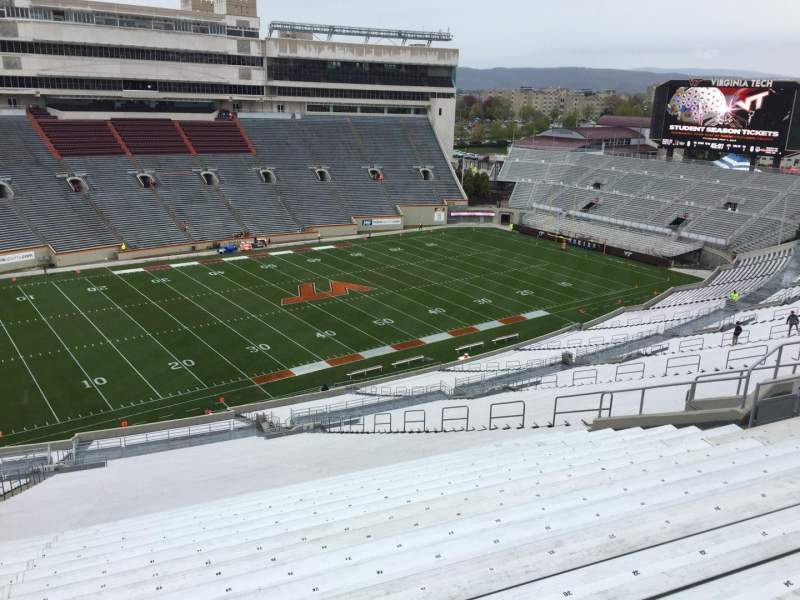 Seating view for Lane Stadium Section 37 Row 4S Seat 24