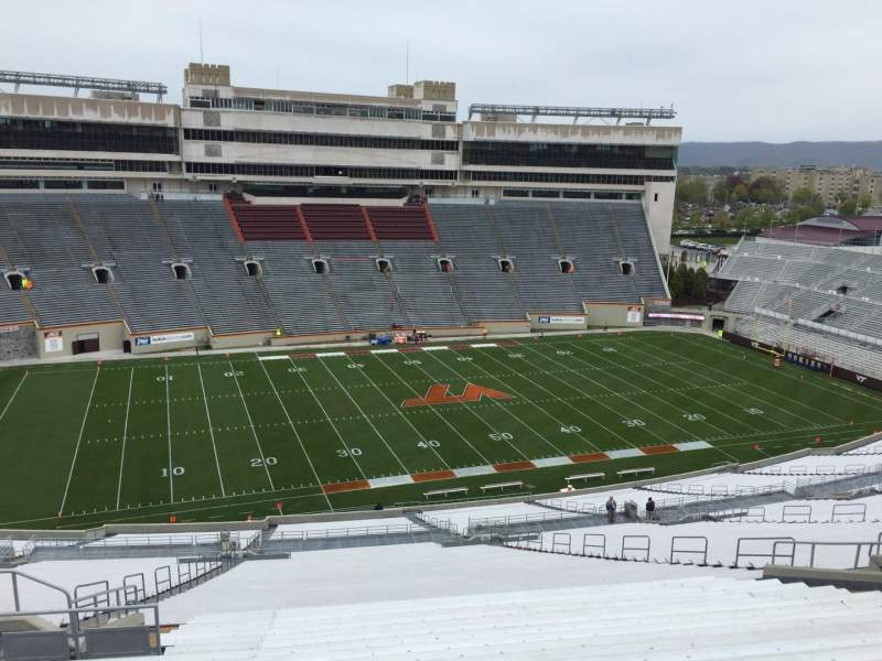 Seating view for Lane Stadium Section 35 Row 4W Seat 20
