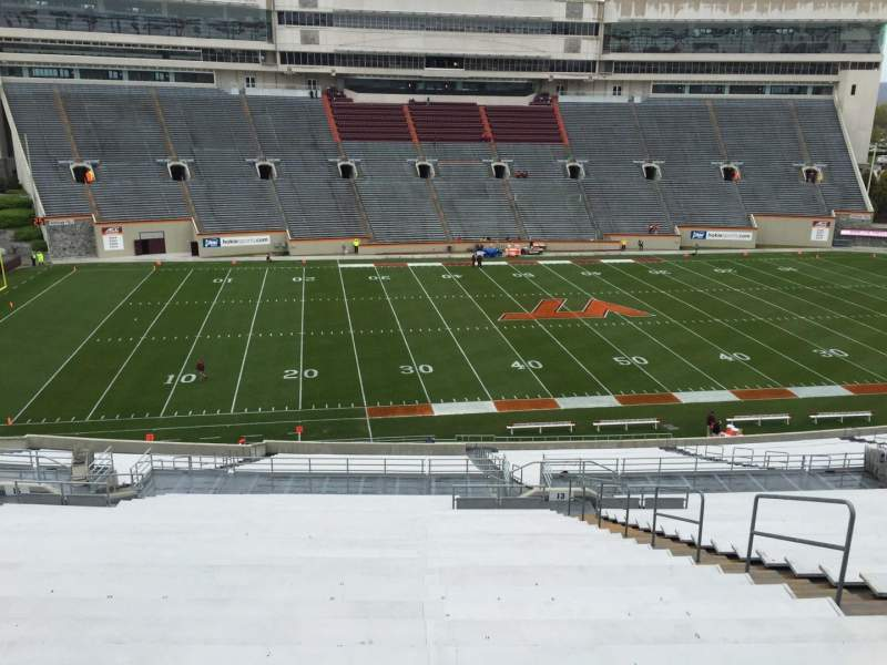 Seating view for Lane Stadium Section 15 Row PPP Seat 15