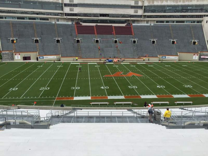 Seating view for Lane Stadium Section 11 Row FFF Seat 27
