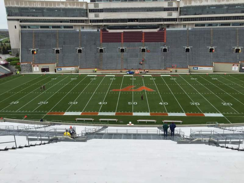 Seating view for Lane Stadium Section 9 Row QQQ Seat 29