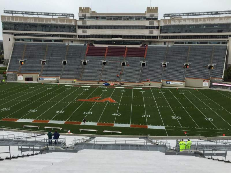 Seating view for Lane Stadium Section 7 Row PPP Seat 29