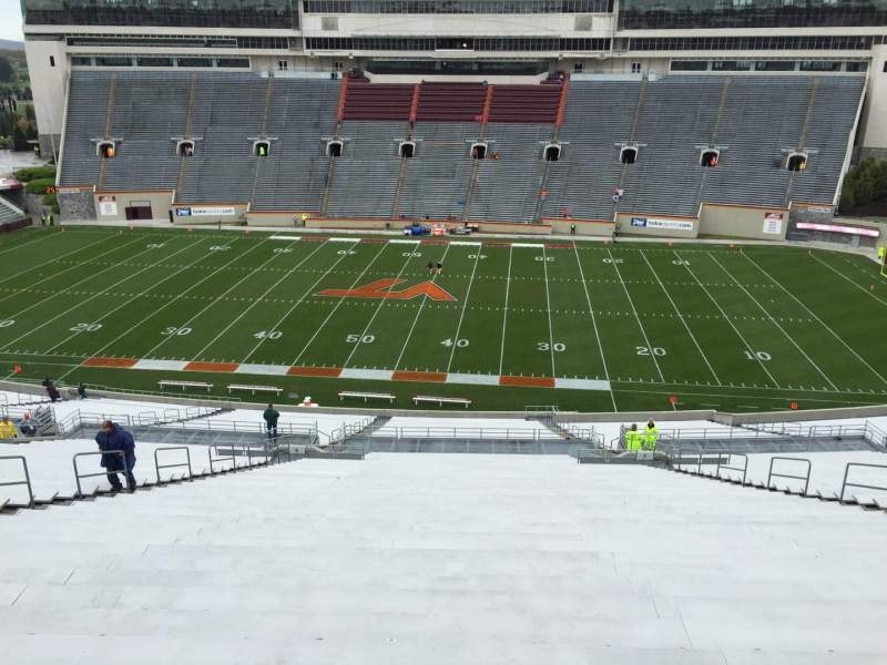 Lane Stadium, section: 29, row: 4D, seat: 24