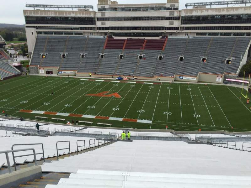 Seating view for Lane Stadium Section 27 Row 4J Seat 18