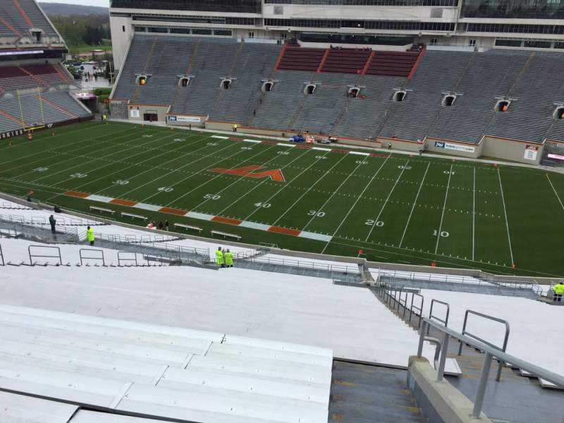 Seating view for Lane Stadium Section 25 Row 4J Seat 7