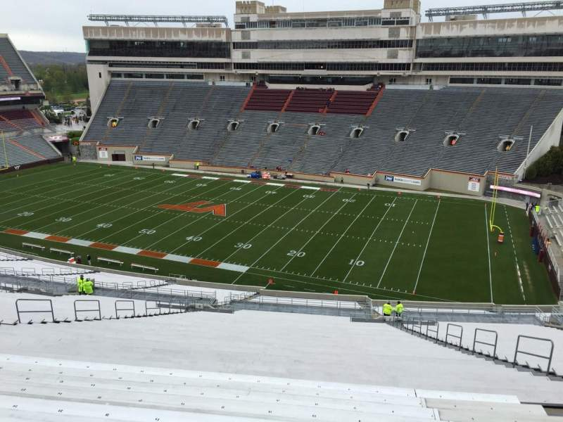 Seating view for Lane Stadium Section 23 Row 4K Seat 21