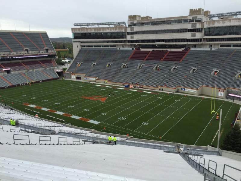 Seating view for Lane Stadium Section 21 Row 4K Seat 7