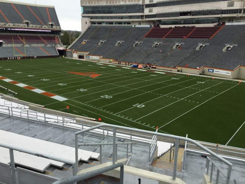 Seating view for Lane Stadium Section 1 Row SS Seat 2