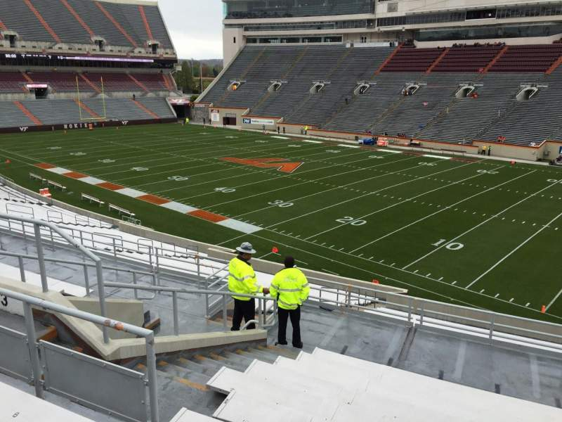 Seating view for Lane Stadium Section 3 Row SS Seat 18
