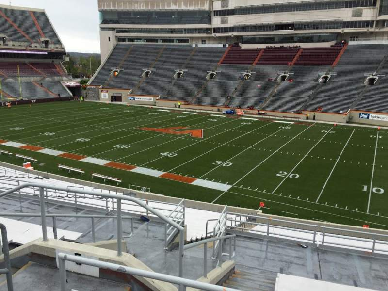 Lane Stadium, section: 5, row: SS, seat: 10
