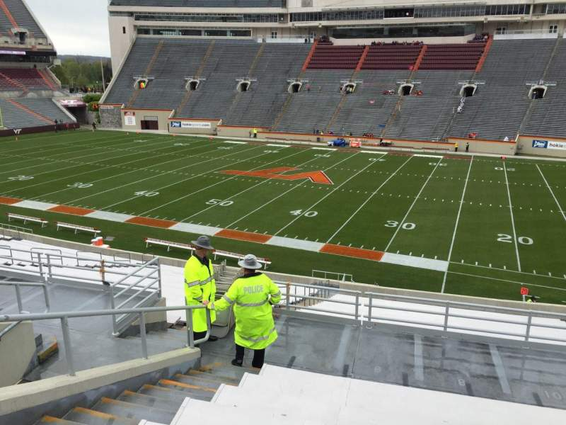 Seating view for Lane Stadium Section 7 Row RR Seat 12
