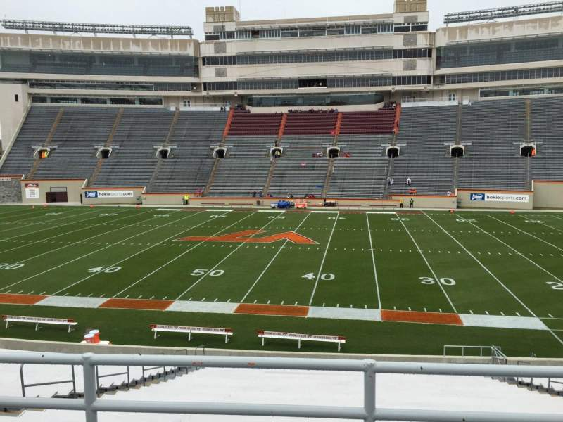 Lane Stadium, section: 9, row: GG, seat: 16