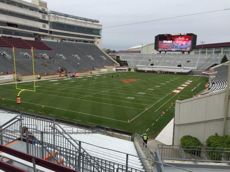 Seating view for Lane Stadium Section 201 Row E Seat 7