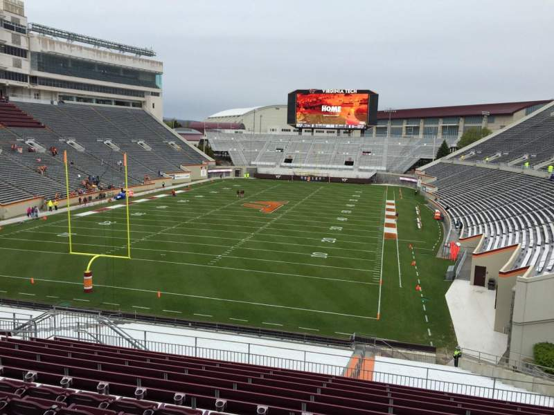 Seating view for Lane Stadium Section 203 Row N Seat 12