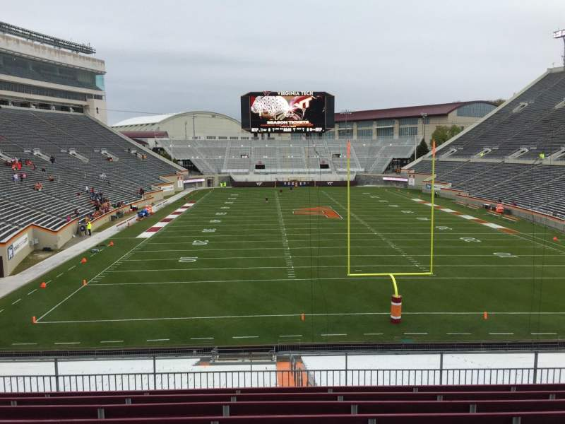 Seating view for Lane Stadium Section 204 Row J Seat 15