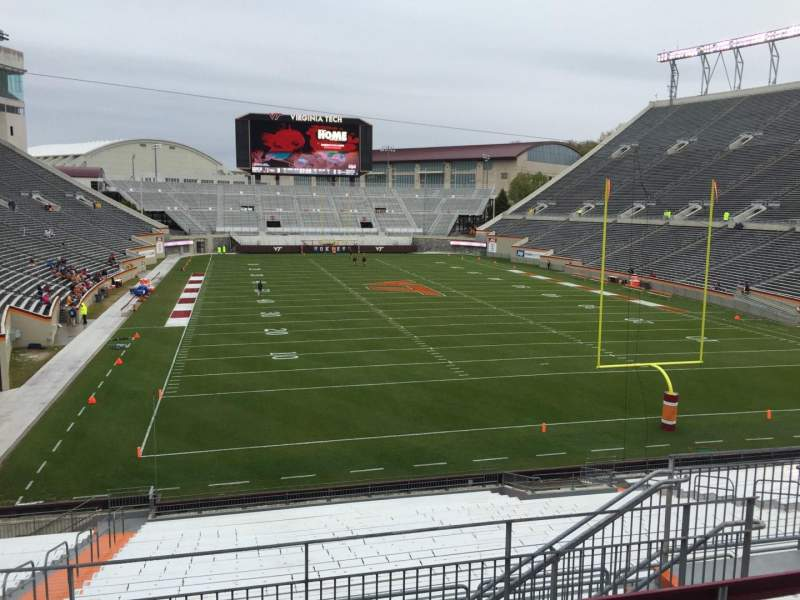 Seating view for Lane Stadium Section 205 Row F Seat 9