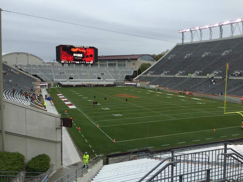 Seating view for Lane Stadium Section 206 Row D Seat 6